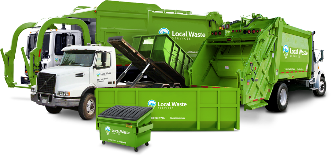 Local waste management, garbage and recycling bin rentals, compactors and waste collection and disposal in Edmonton, AB and Regina, SK