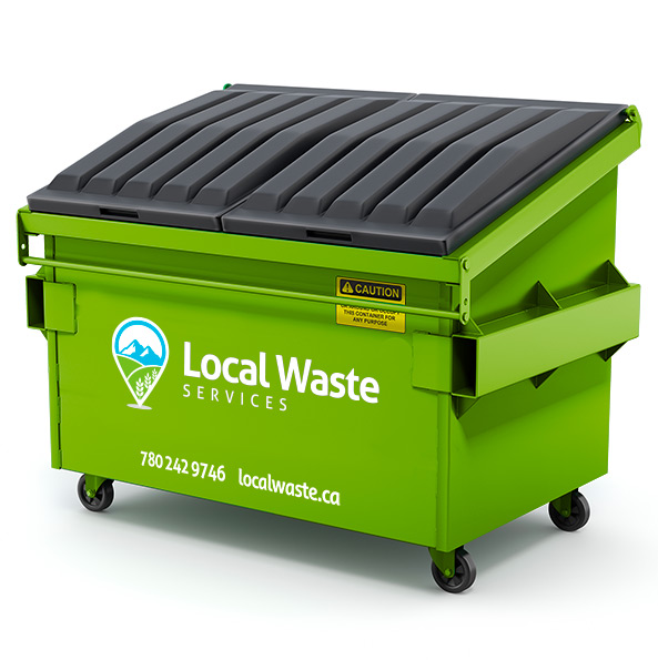 Local Waste garbage and recycling bin rentals in Edmonton and Regina.